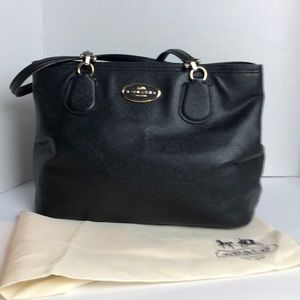 Leather Coach tote Bag